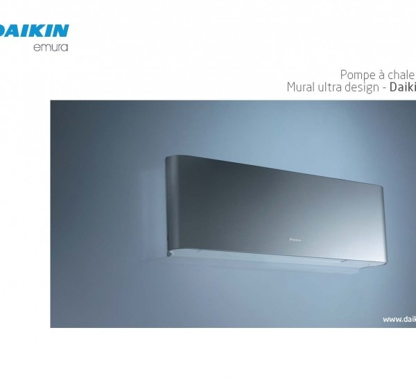 Mural r versible mono split dc inverter gamme design for Mural daikin